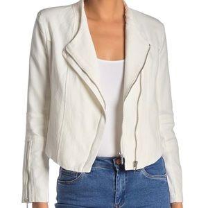 NEW BLANKNYC Mesh Textured Asymmetrical Jacket